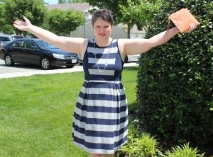 Carissa Striped Fit & Flair Dress
