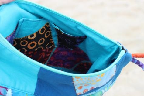 mini charm bag inside