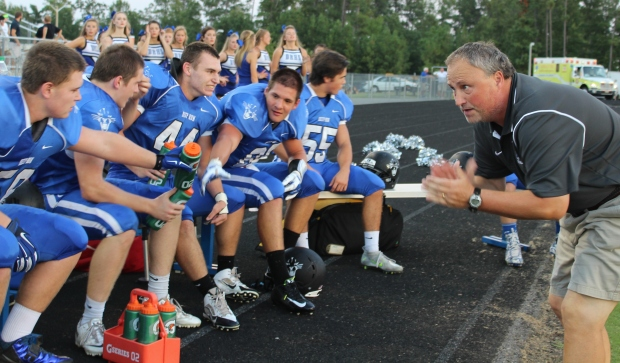 My husband is the head football coach at Deep Run High School.