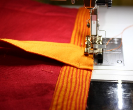 yoga handle stitch in place