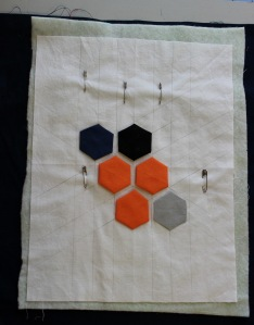 hexagon quilt sandwich