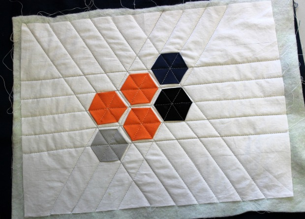 hexagons quilted