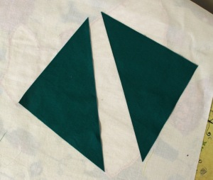 cut square on diagonal