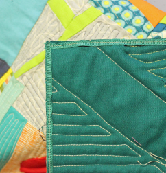 quilt binding facing corner overlap