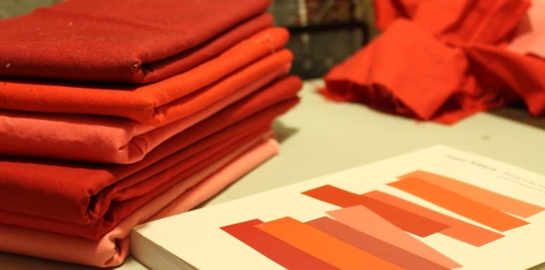 Day Twenty-One 4-22-18 red fabric